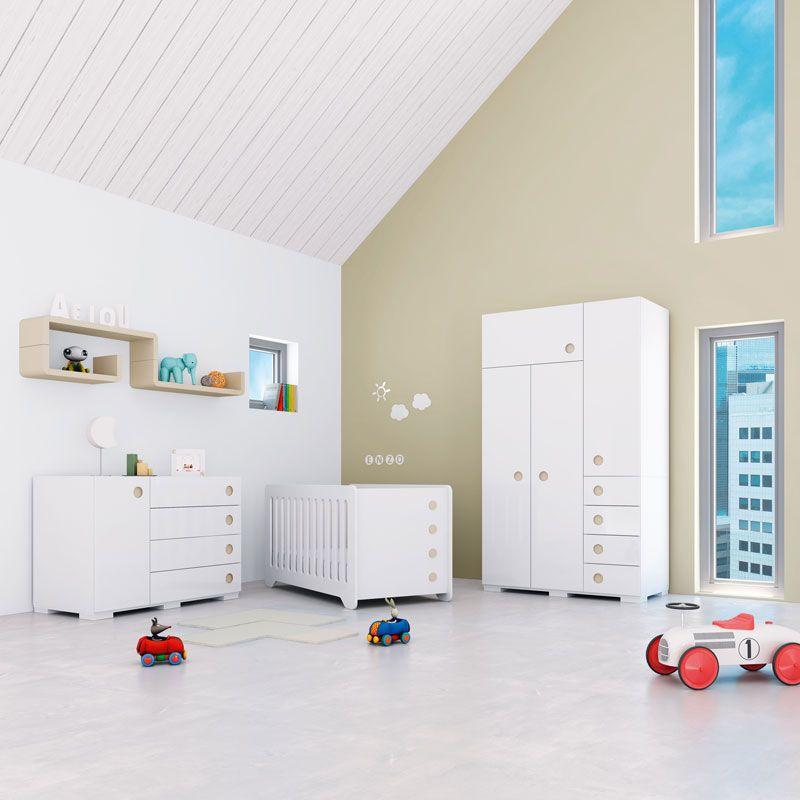 Habitaciones infantiles de dise o y originales para beb s colecci n orbit cuna c moda - Armarios infantiles originales ...