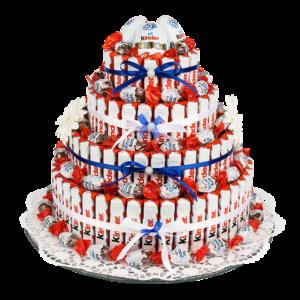 Anleitung: Styropor-Torte mit Schokoriegeln