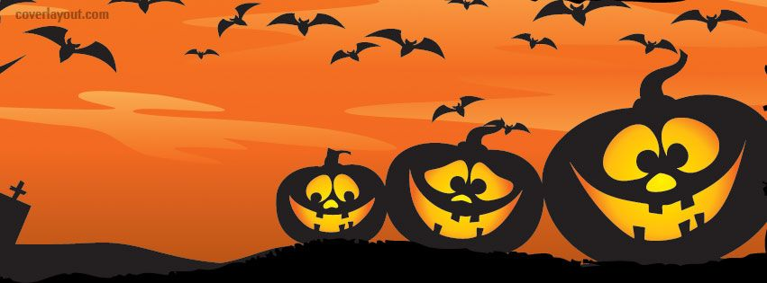 orange pumpkins halloween night facebook cover coverlayoutcom - Halloween Cover Pictures