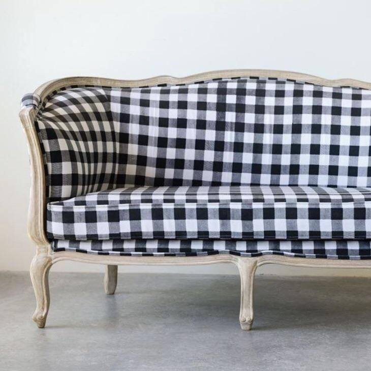 Buffalo Check Fabric Sofa
