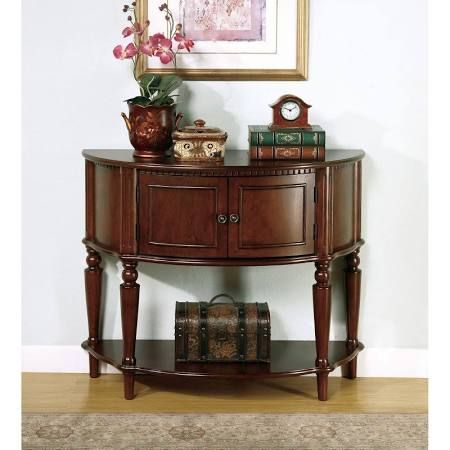 Half Moon Console Table With Drawers Espresso Google