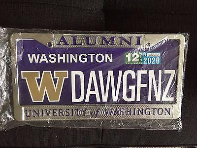 University Of Washington Alumni License Plate Frame I Am