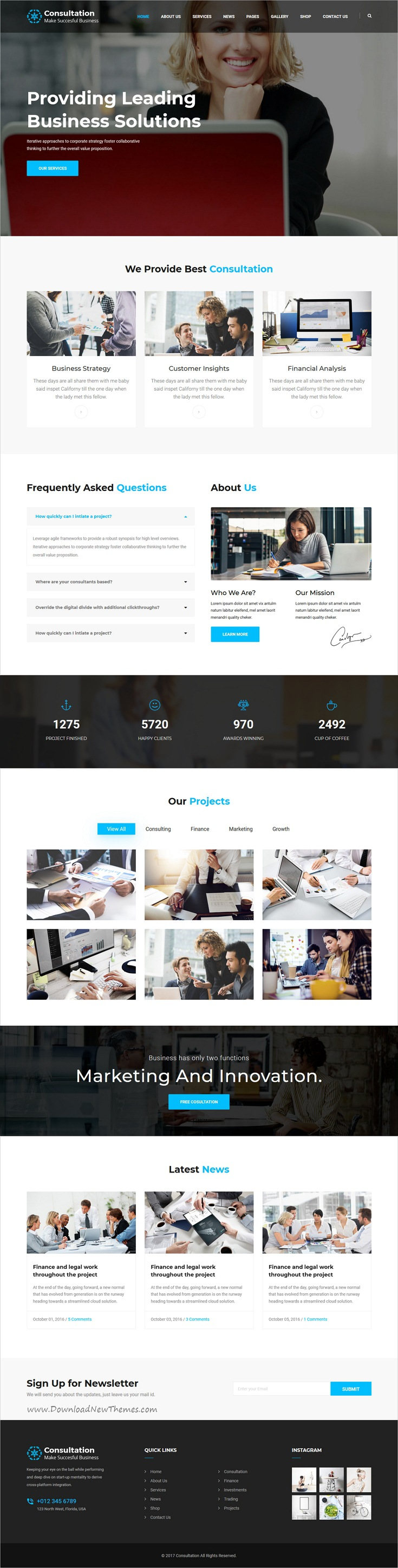 Consultation - Business Consulting and Professional Services HTML ...
