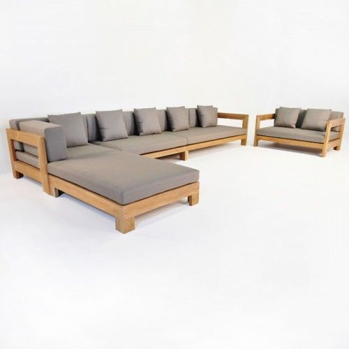 Lounge sofa outdoor teak  Coast A-Grade Teak Outdoor Seating @ Teakwarehouse.com | TEAK ...