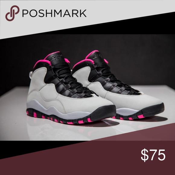 new styles 18d4a 8900a Jordan 10s Pink, Black & White Men's size 8 Jordan 10s Pink ...