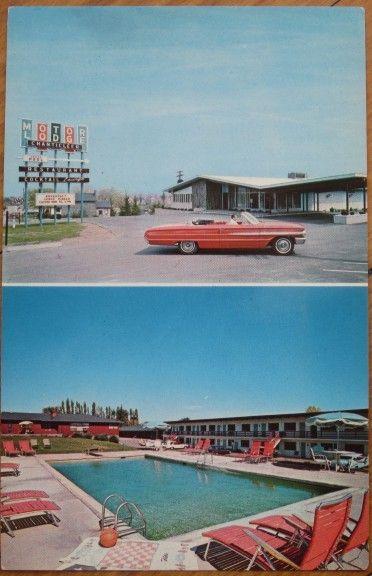 1960s Ny Chrome Pc Chanticleer Motel Geneva New York