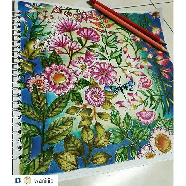Instagram media desenhoscolorir - Incrível! Art by @waniiiie ・#jardimsecreto  #desenhoscolorir #secretgarden #secretgardencolouringbook  #adultcoloringbook