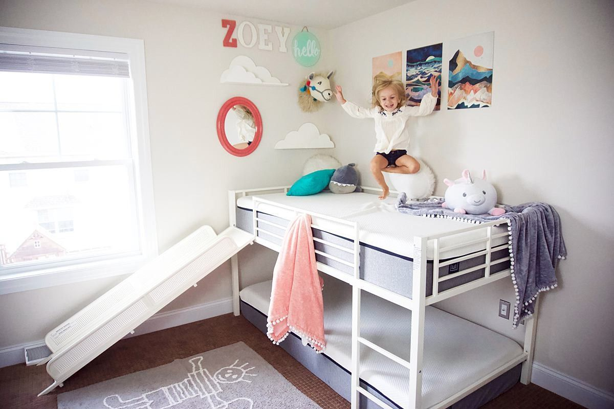 This twin loft slide bed is every kids dream! Check it out