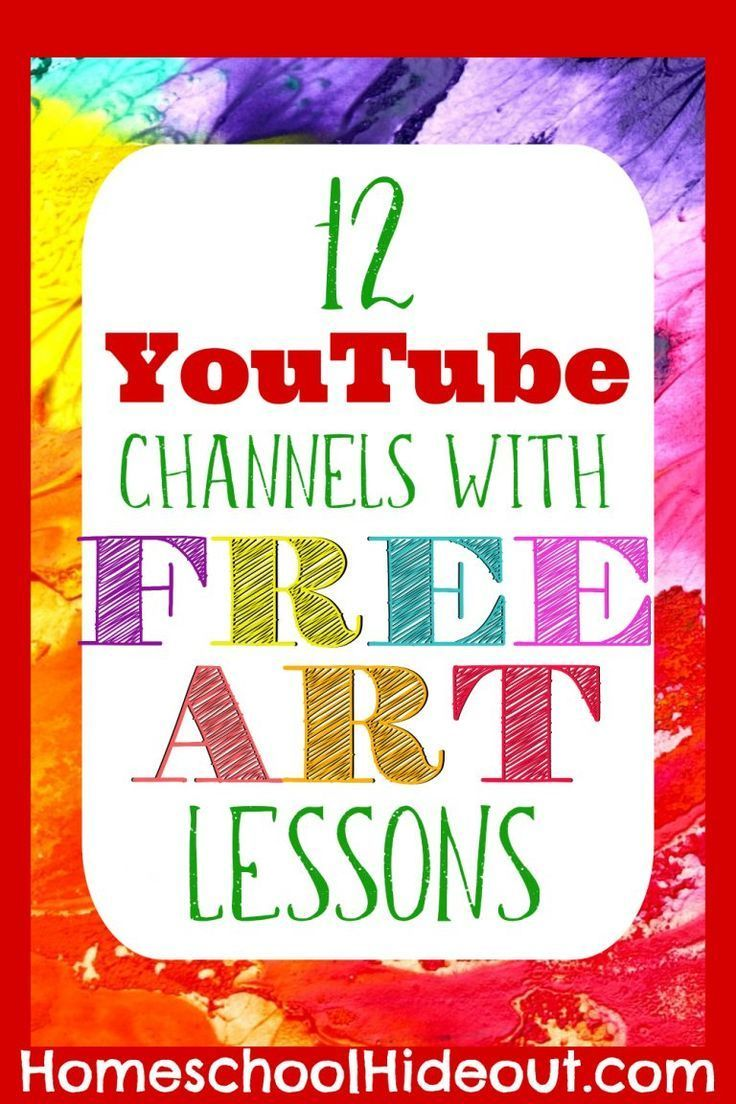 12 Art Lessons on YouTube Your Kidd…