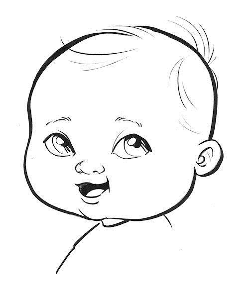 Картинки по запросу how to draw cartoon babies