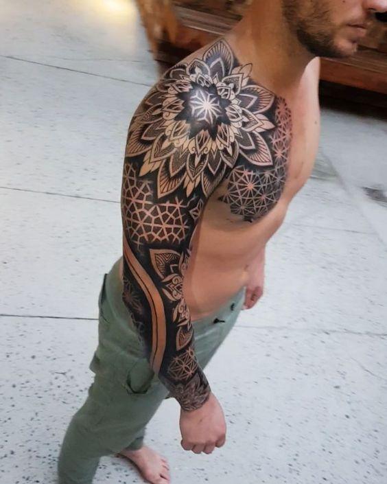 Best sleeve tattoo gallery 👉 positivefox.com -  Best sleeve tattoo gallery 👉 positivefox.com #Sleeve #best #Gallery #positivefoxcom   - #GALLERY #geometrictattoo #positivefoxcom #sleeve #Tattoo #tattooideassimple #tattoooldschool