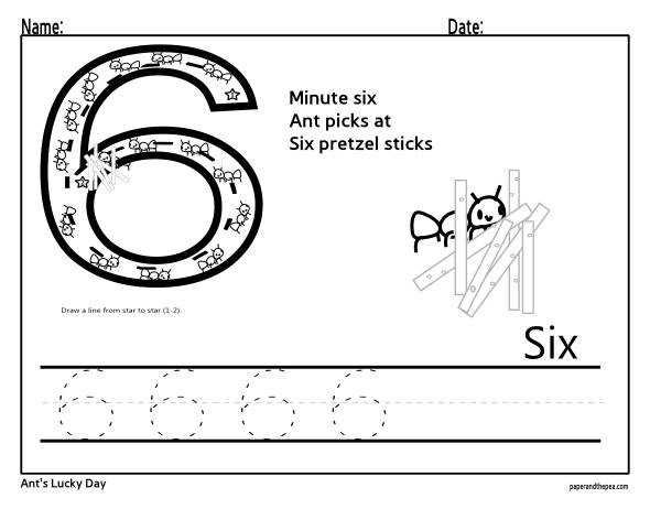 Tracing Number Six Worksheet Math Concepts – Number 6 Worksheet