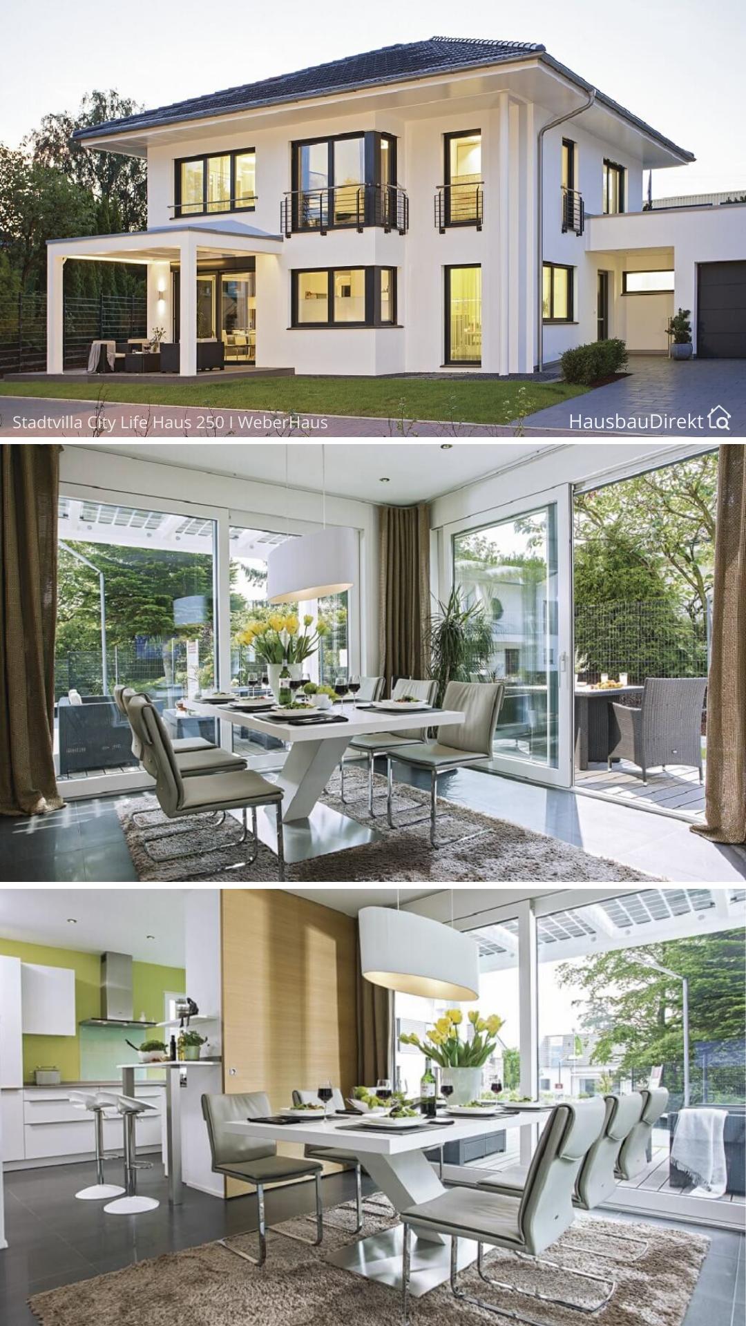 Moderne Stadtvilla mit Garage & Walmdach bauen, Haus ...