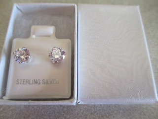 Darcus Tori Diamond Simulant Earrings in Sterling Silver Review and giveaway.  Great Jewelry at a great price