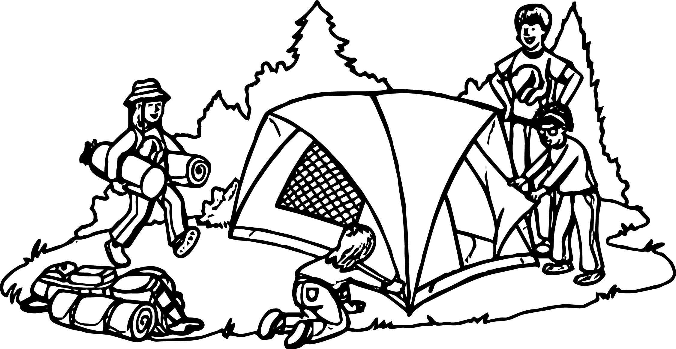 Nice Tent Camping Coloring Page Camping Coloring Pages Coloring