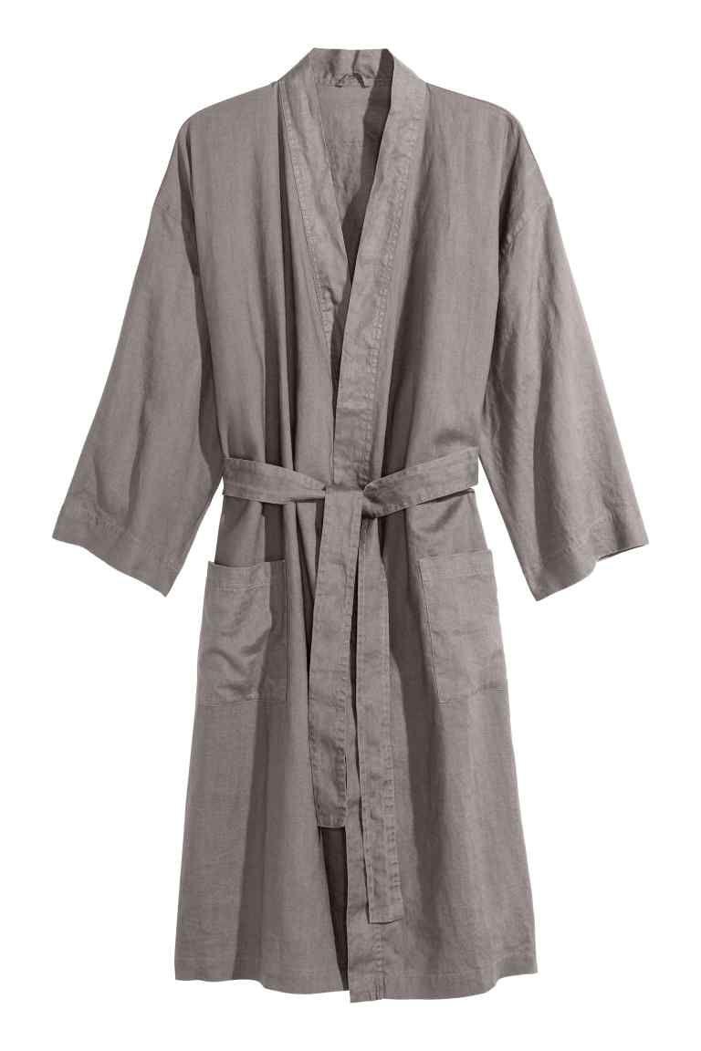 Linge De Maison Robe De Chambre.Robe Chambre En Lin Lave Wishlist Homewear Robe De