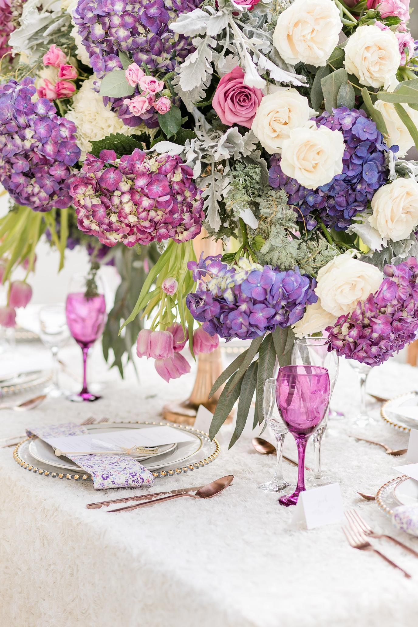 Lovely Lavender Spring Wedding At The Laurel Hall In Indianapolis,