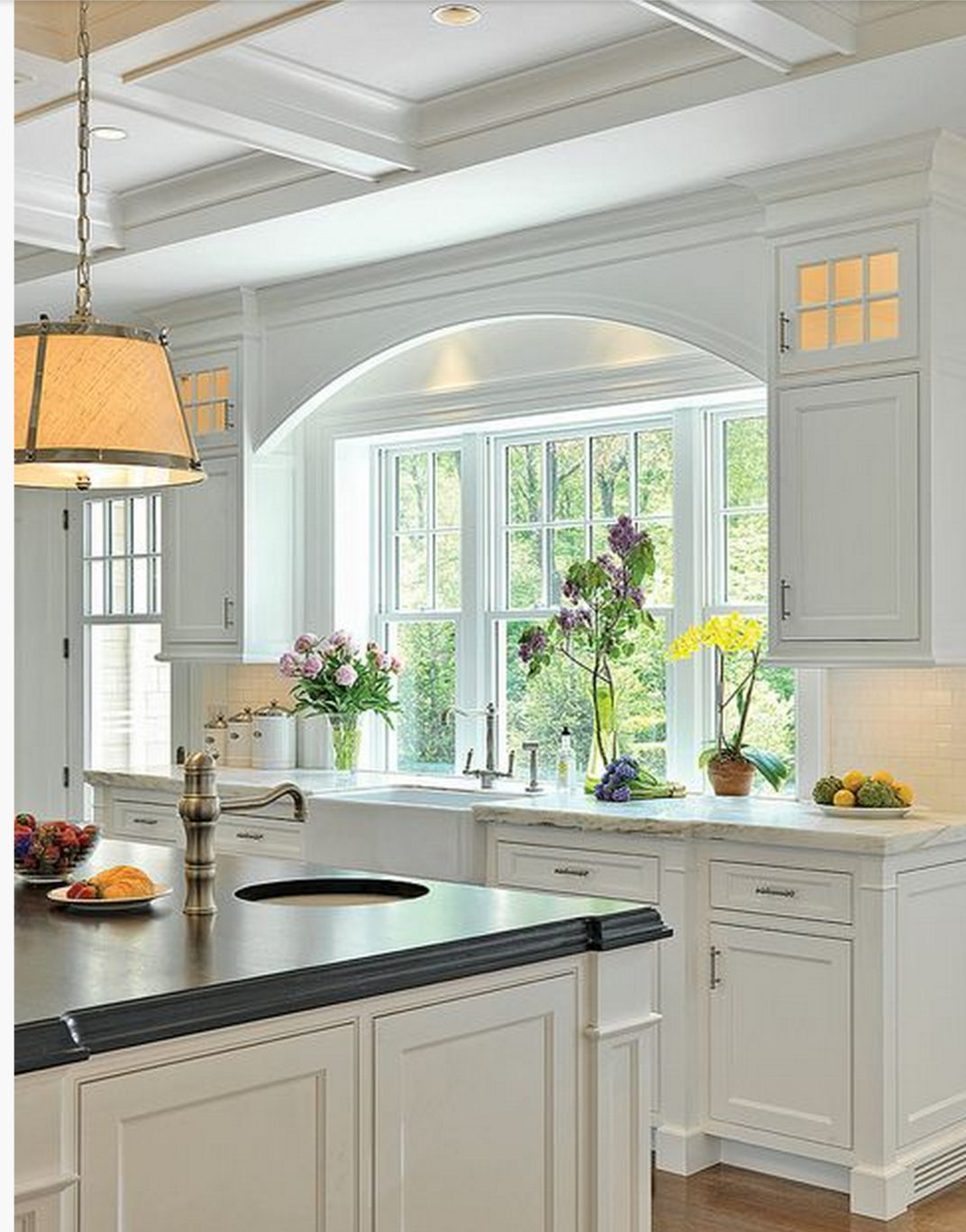 narrow kitchen countertops table designs my remodel windows flush with counter