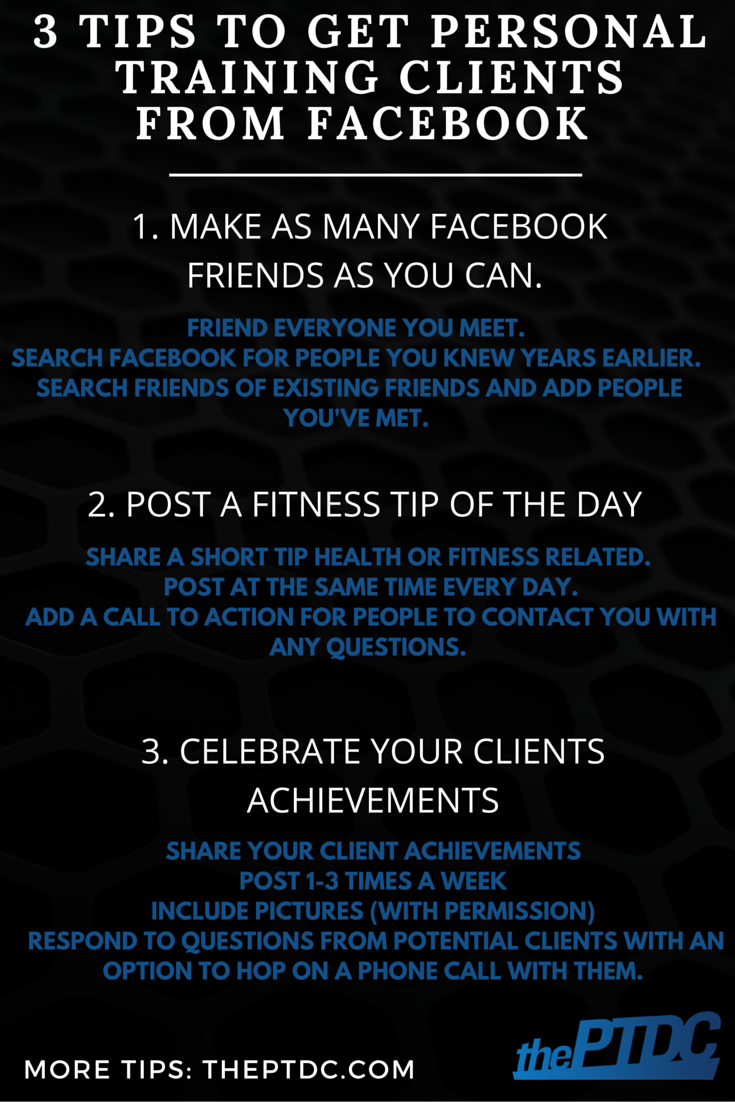 Fitness Training How To Get Personal Training Clients From Facebook
