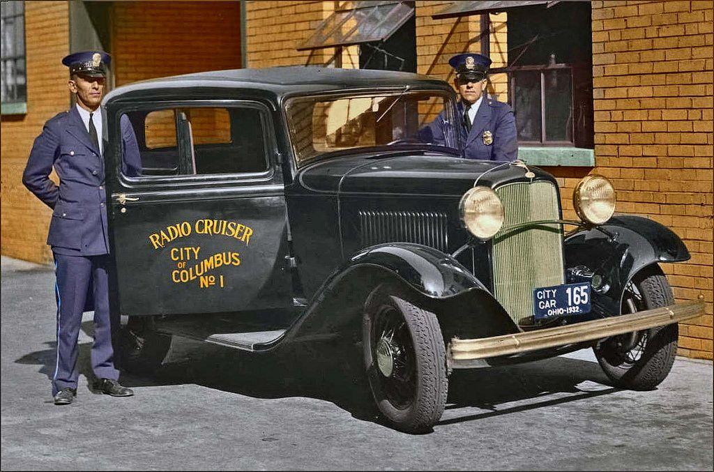 1932 columbus ohio police police cars old police cars