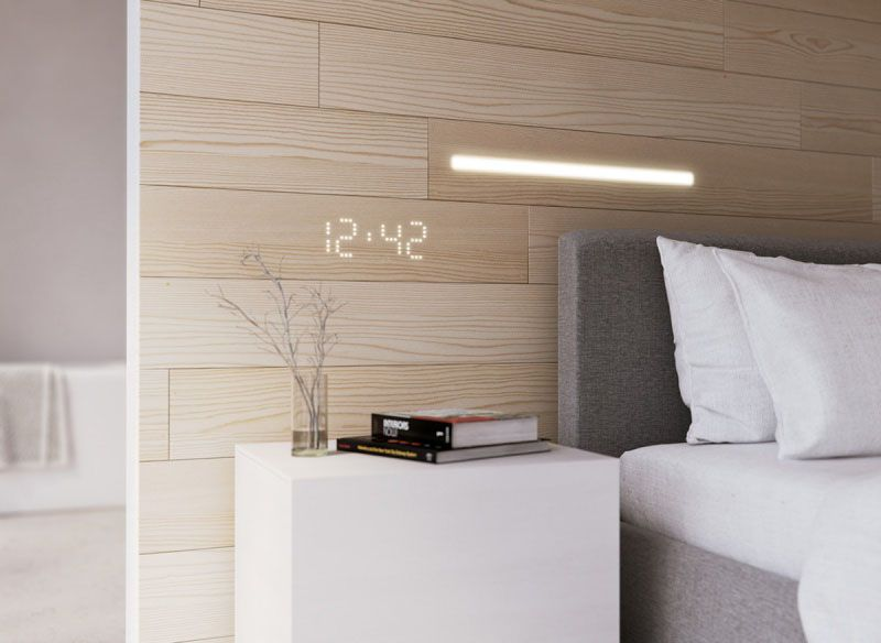 Hidden Led Lights Are Located Within Decorative Wooden Panels For A Seamless Lighting Look Wall Panels Led Wall Panels Interior
