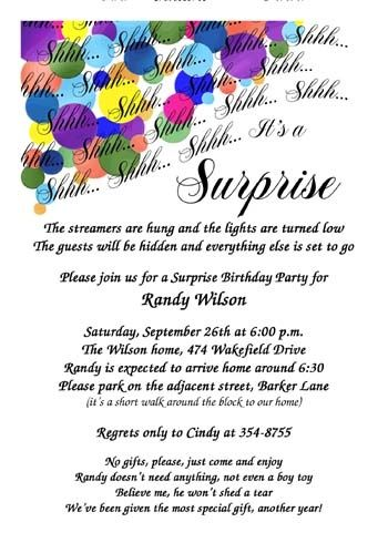 Crate Your Own Adult Surprise Birthday Party Invitations For Any Milestone