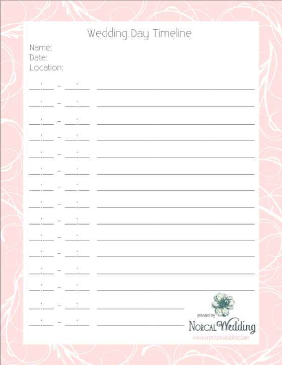 6 Wedding Timeline Tips and a Free Printable Wedding Day
