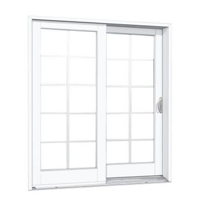 Mp Doors 72 In X 80 In Smooth White Right Hand Composite Pg50 Sliding Patio Door With 10 Lite Sdl G6068r002d250 The Home Depot Sliding Patio Doors Patio Doors Double Sliding Patio Doors