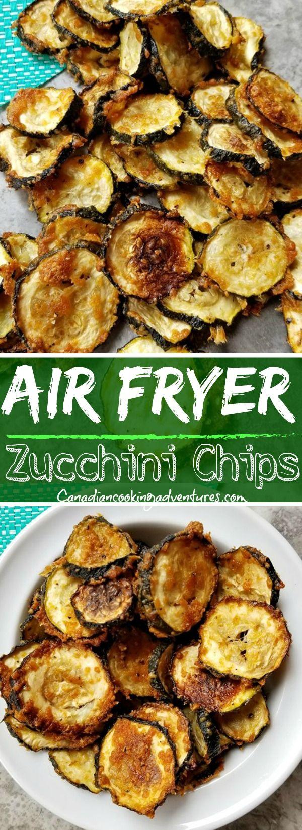 Air Fryer Zucchini Chips #airfryerrecipes