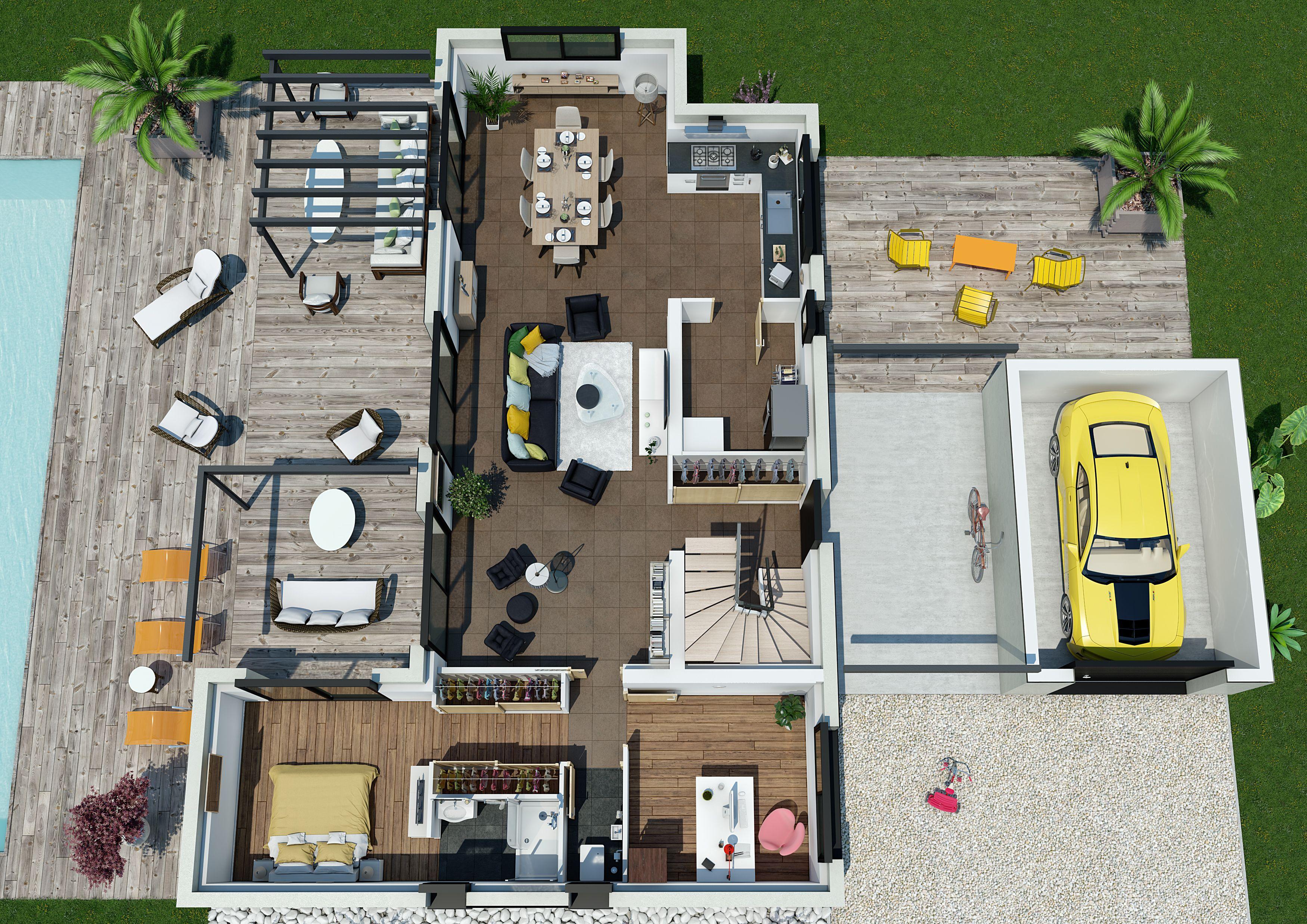 Maison villa florida couleur villas 188800 euros for Construire maison 91