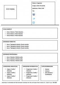Modello Curriculum Da Compilare Modello Curriculum Curriculum