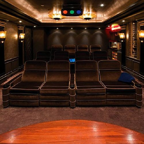 21 Incredible Home Theater Design Ideas Decor Pictures: Atlanta Home Theater! #movies #moviescreen #beautiful