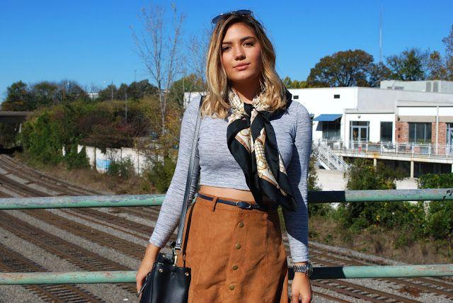 Button Up Midi Skirt + Crop Top