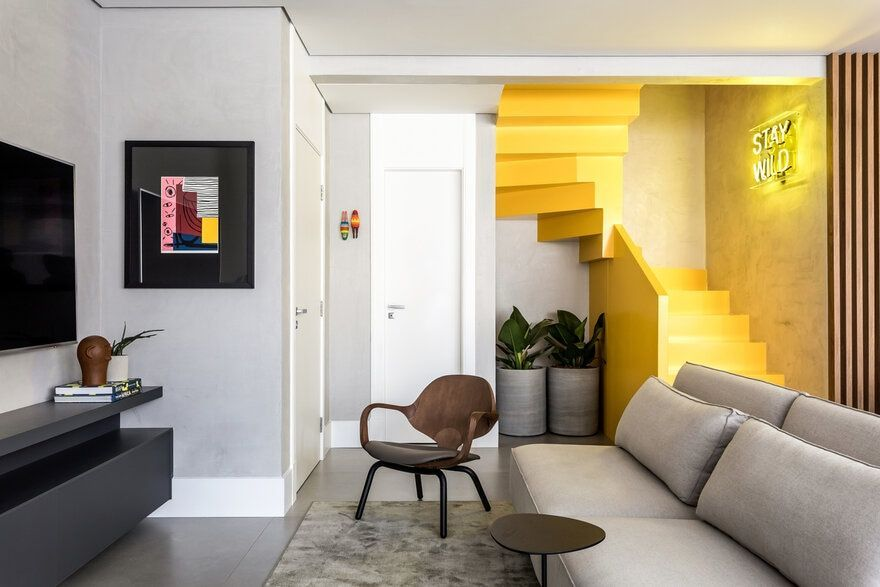 Contemporary Apartment With A Formal Dignity And Punctual Colors For A Young Couple Contemporary Apartment With A Formal Dignity And Punctual Colors For A Young Couple