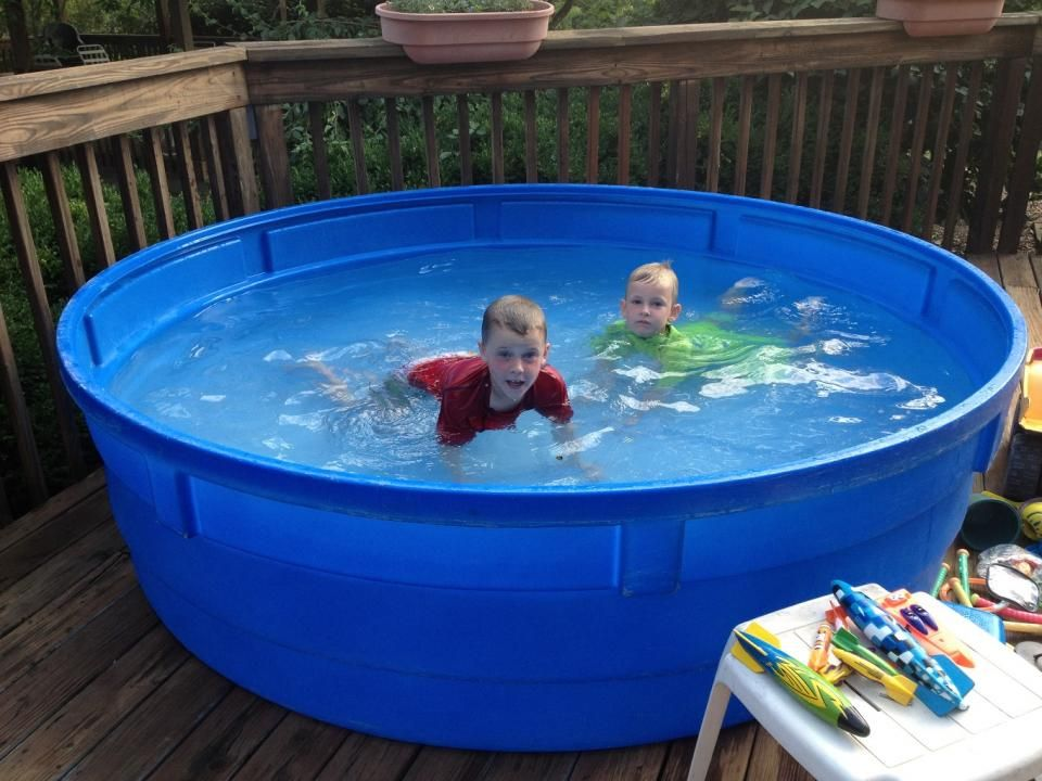 Nice hard plastic garden pool for kids