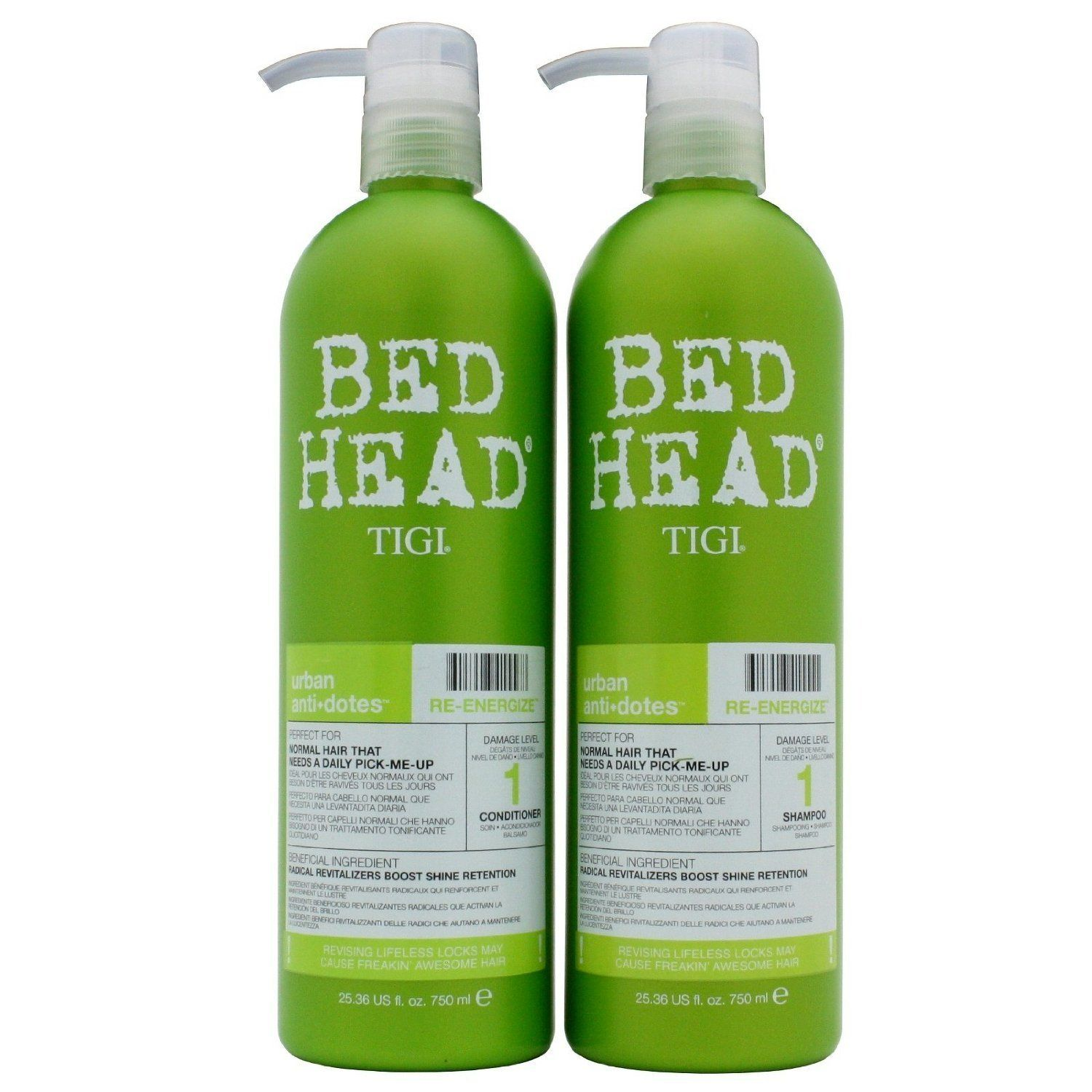 Tigi Bed Head Re Energize Shampoo And Conditioner Duo For Normal Hair 25 36 Oz Set Want Additional Info C Shampoo Bed Head Shampoo Shampoo And Conditioner