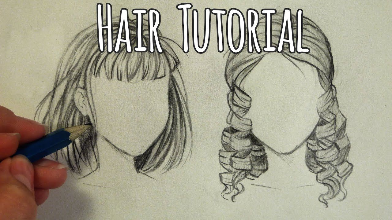 How to draw hair curly and straight tutorial how to