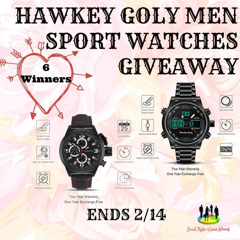 New Age Mama Hawkey Goly Men Sport Watches Giveaway
