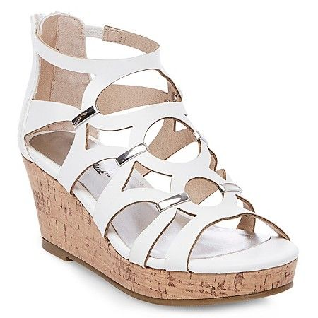 7c2fee70d8d Girl s Nicolina Wedge Gladiator Sandals Cat   Jack™ - White   Target ...
