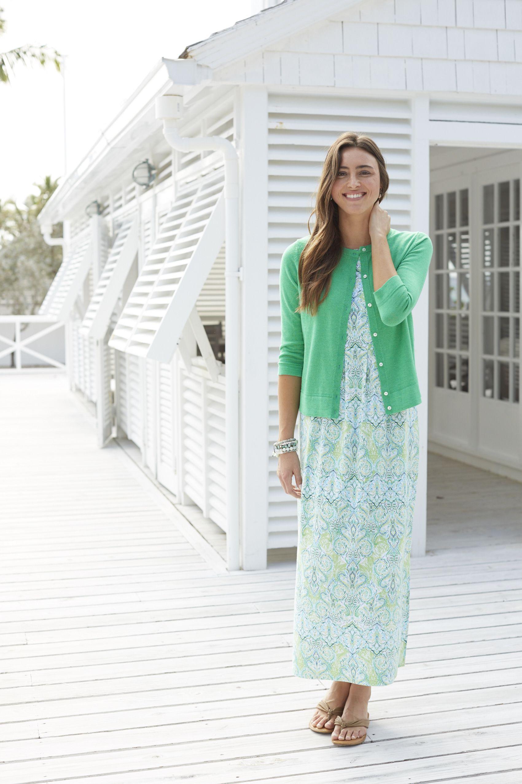 Printed Empire Waist Knit Maxi Dress From J Jill Maxi Knit Dress Summer Dresses Womens Dresses [ 2550 x 1700 Pixel ]