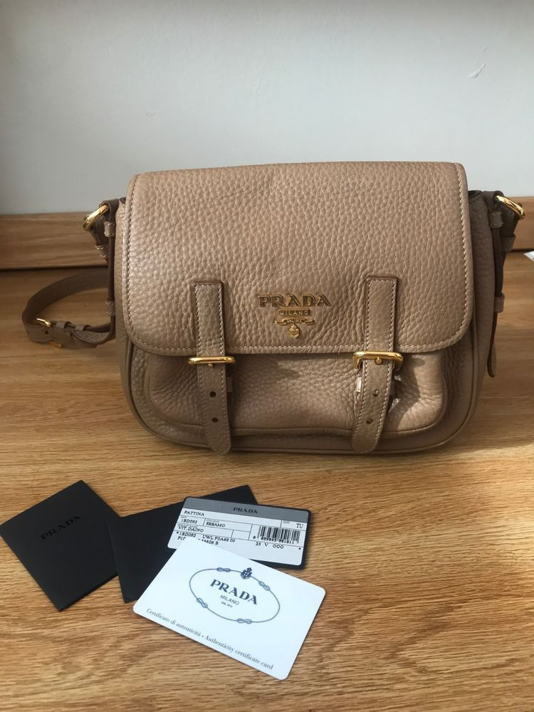 b44db0b4e9ab Barely Used Prada Beige Pebbled Leather Crossbody Bag in Perfect Condition  #fashion #clothing #shoes #accessories #mensaccessories #bags (ebay link)