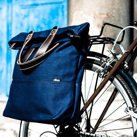 Alban Tragetasche Am Fahrrad Tragetasche Taschen Blau Braun