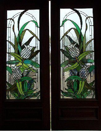 Pinapple Stained Glass Doors