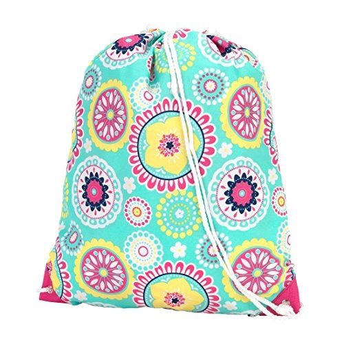 46528f49c287 Our girls personalized drawstring backpack features cute colors and is  perfect for activities