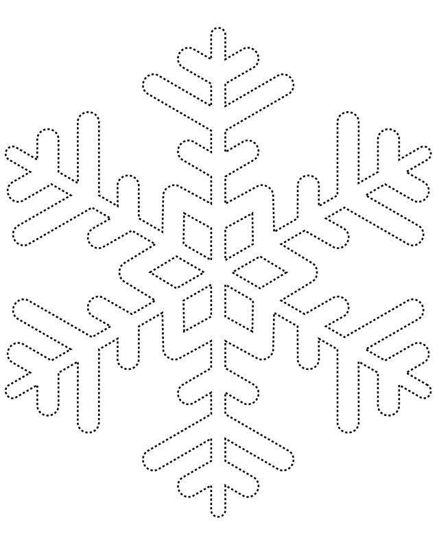 Printable Snowflake Templates To Get You Through Any Snow Day Vianocne Pozdravy Ilustrovane Plagaty A Omaľovanky