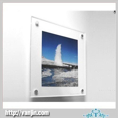 China Wall Mounted Home Office Acrylic Poster Frames With Aluminous Standoffs Suppliers