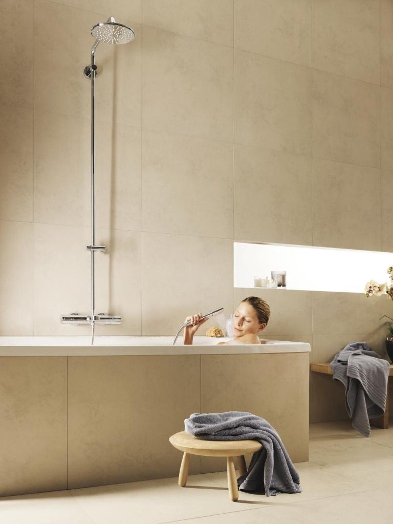 Rainshower shower system   Smukke badekar til velvære   Pinterest ...
