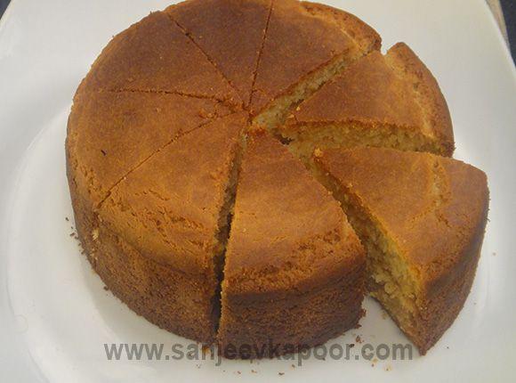 How To Make Eggless Sponge Cake Recipe By Masterchef Sanjeev Kapoor Recipe Eggless Sponge Cake Eggless Vanilla Cake Recipe Cake Recipes