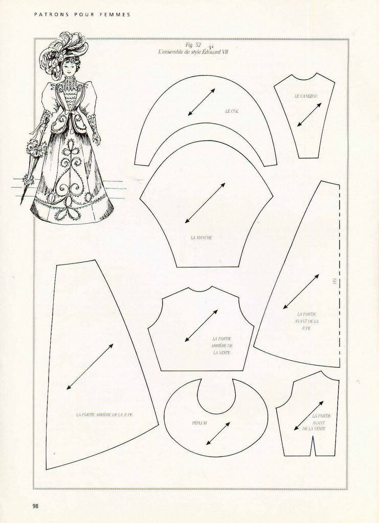Beautiful collection of Victorian doll dress patterns. I'm