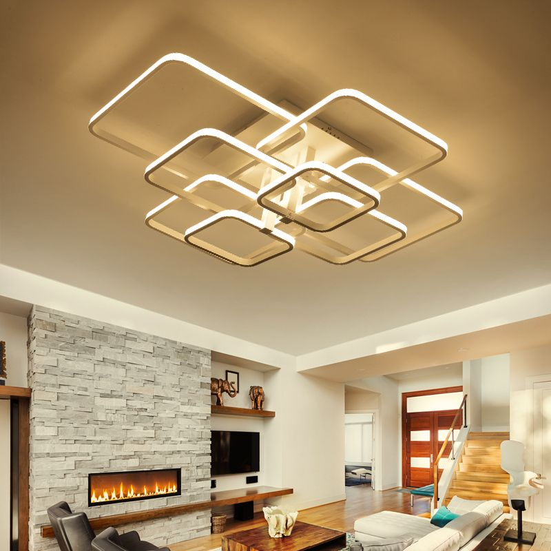 Best Price Rectangle Acrylic Aluminum Modern Led Ceiling Lights